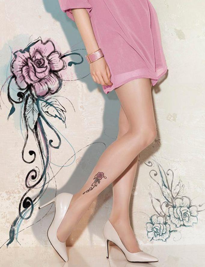 Rajstopy z tatuażem