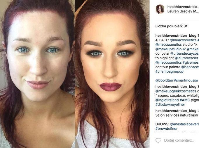 brzydki makijaż