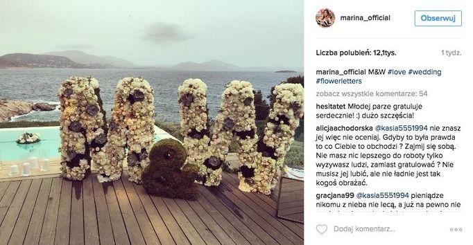 Marina Łuczenko Wojciech Szczęsny ślub
