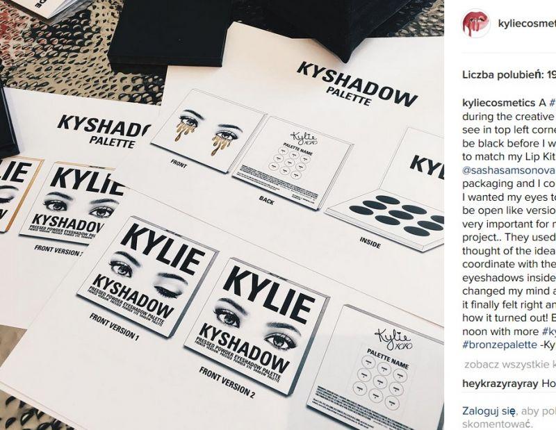 cienie do powiek Kylie Jenner