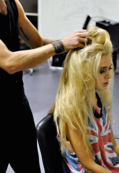 natapirowane włosy