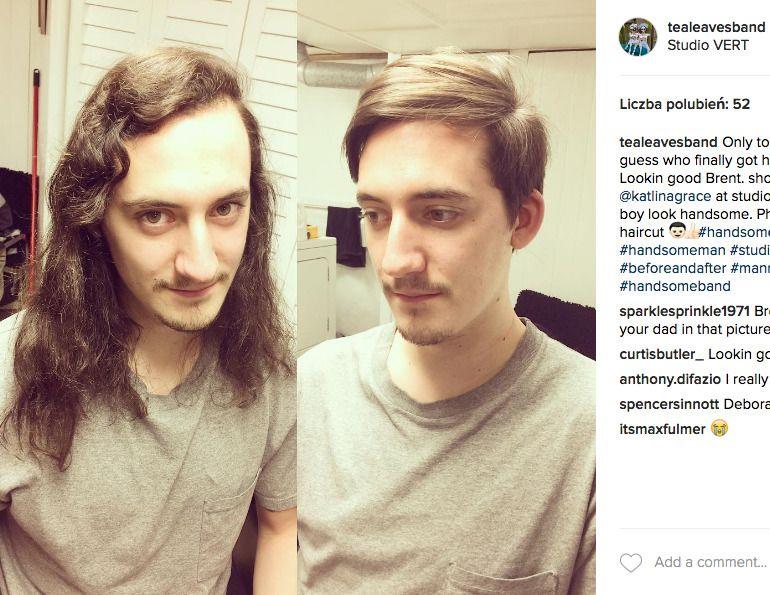 długie włosy u mężczyzny