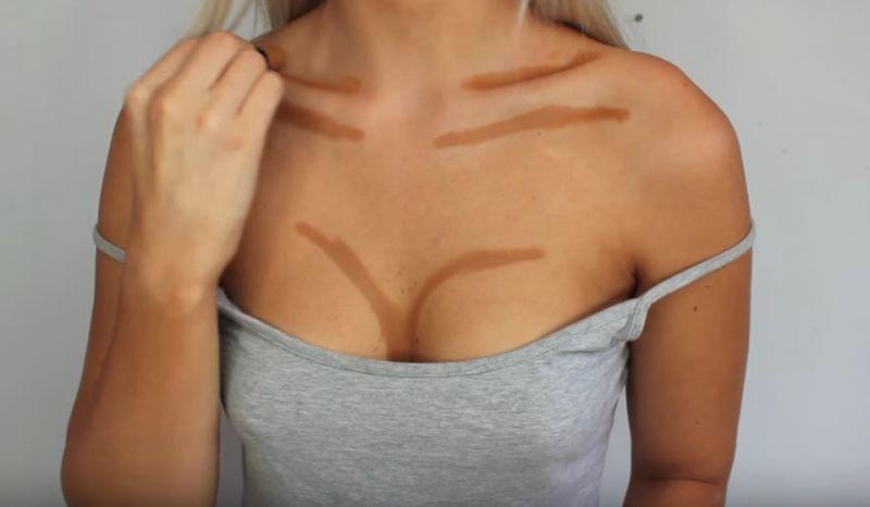 konturowanie piersi