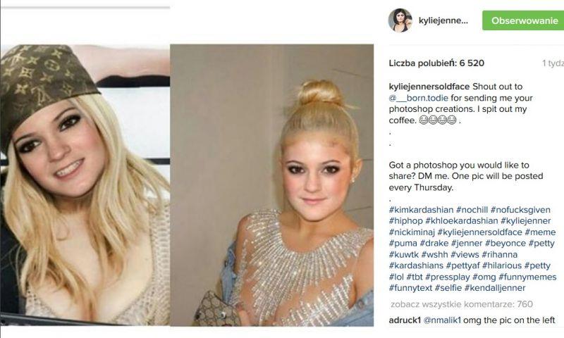 fotomontaż Kylie Jenner