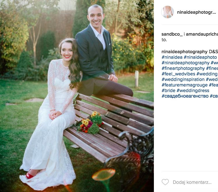 1481b3032aec8d biała suknia ślubna. źródło: Instagram  (https://www.instagram.com/ninaideaphotography/)