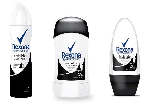 REXONA Invisible Black + White