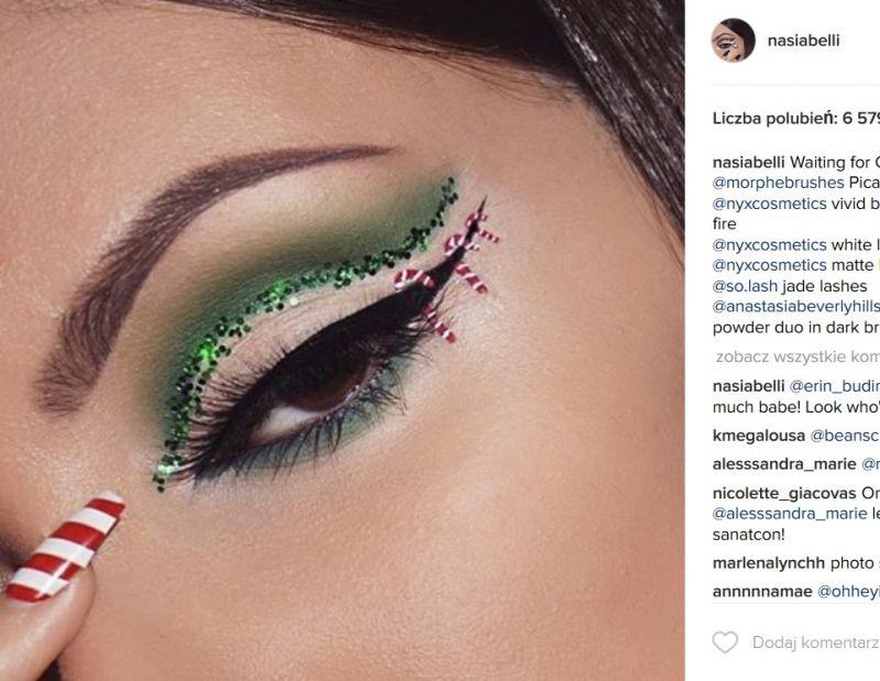 świąteczny make up