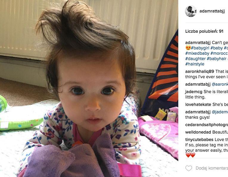 długie włosy u dziecka