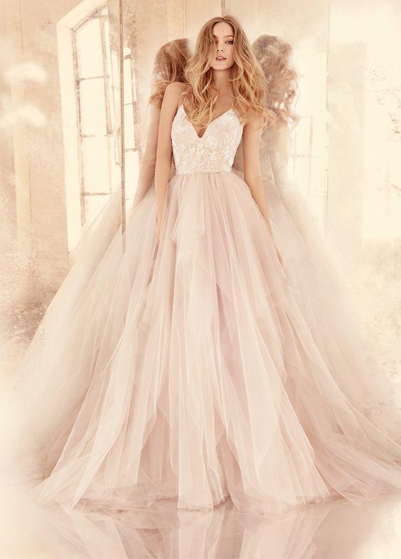 różowa suknia do ślubu