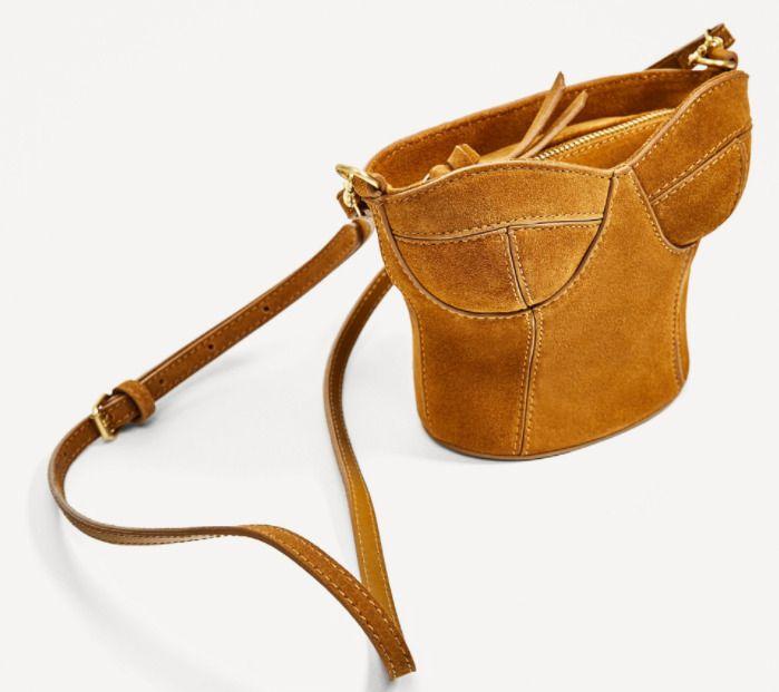 Skórzana torebka listonoszka w kształcie gorsetu - Zara