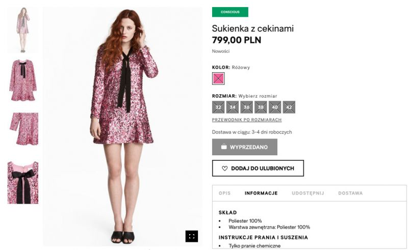 Sukienka z cekinami H&M Conscious Exclusive