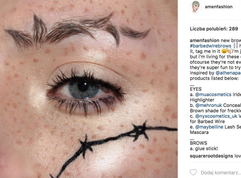 Barbed wire brow