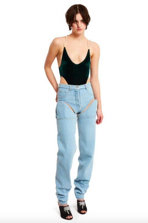 Y/Project - Detachable Cut-Out Front Jeans