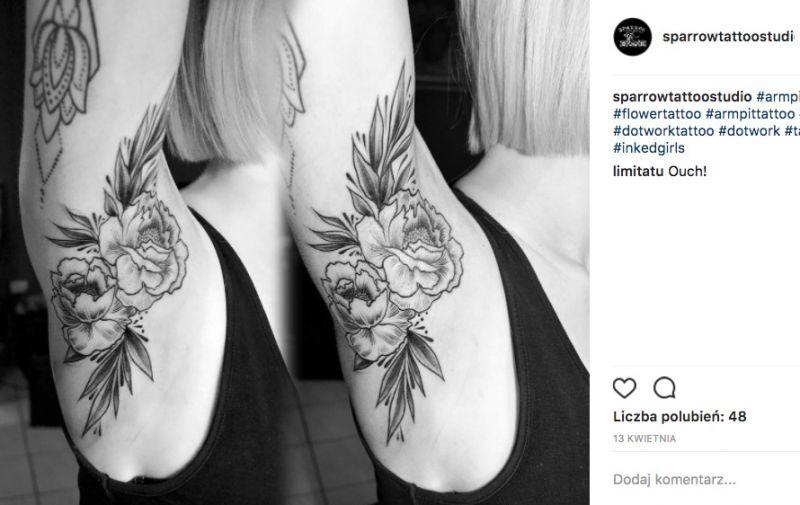 Tatuaż pod pachą