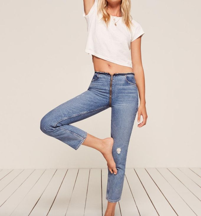 zipper jean reformation