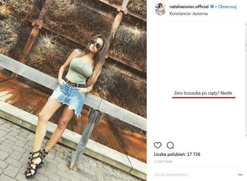 Natalia Siwiec po ciąży