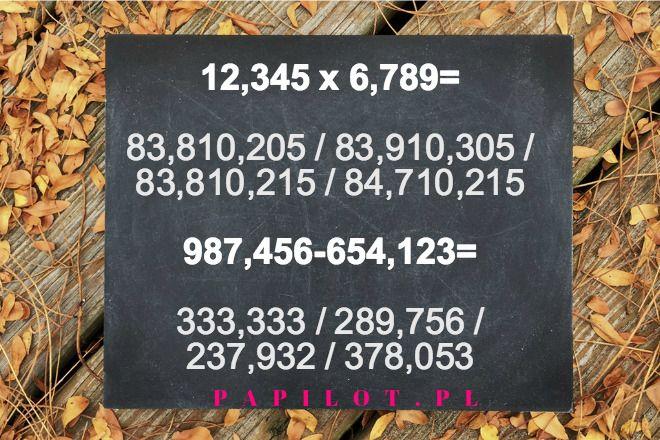 zagadka matematyczna