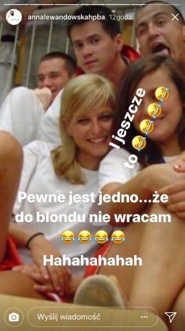 Anna Lewandowska blond