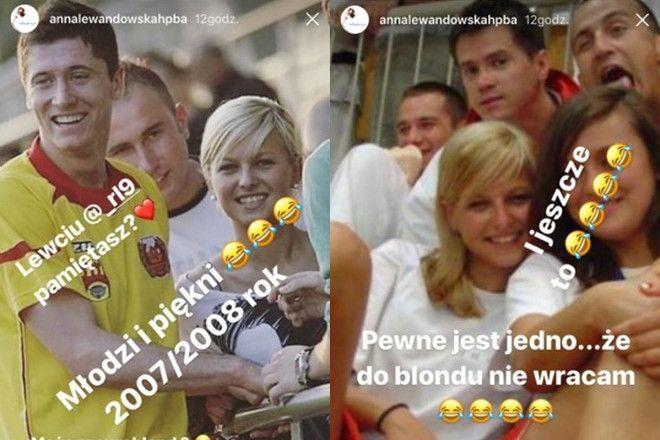 Anna Lewandowska blondynka