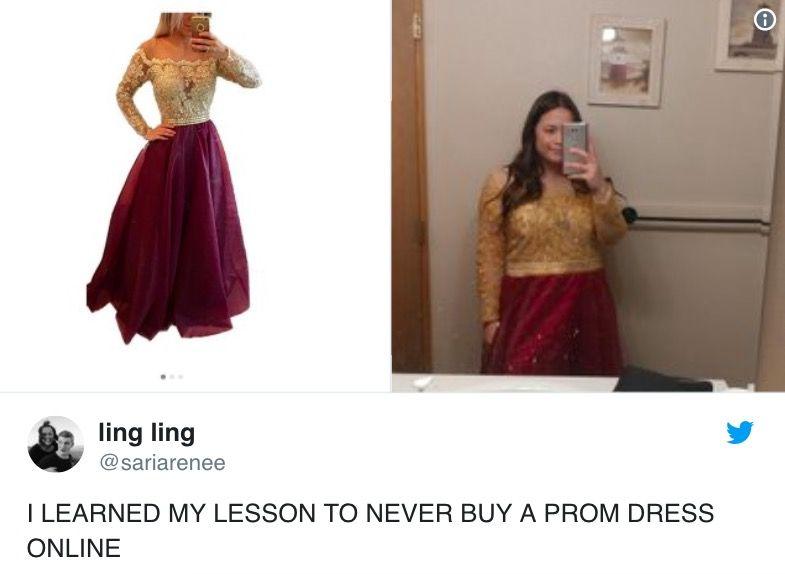 sukienka z internetu