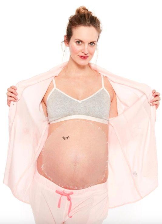 Maseczka na ciążowy brzuch