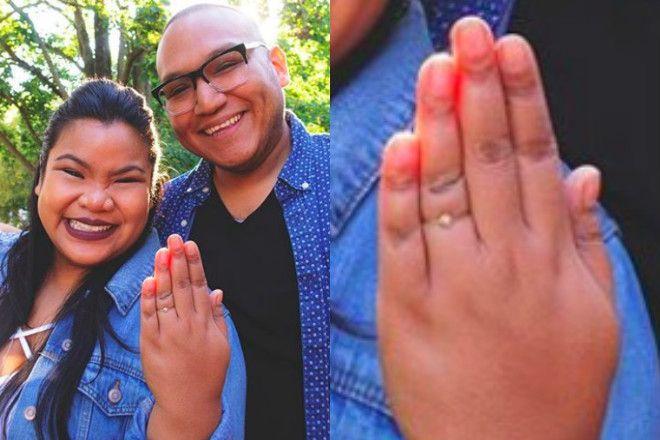 skromny pierścionek zaręczynowy