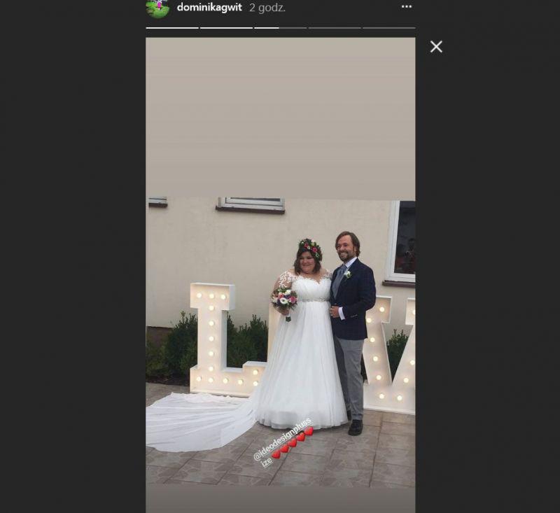 Dominika Gwit ślub