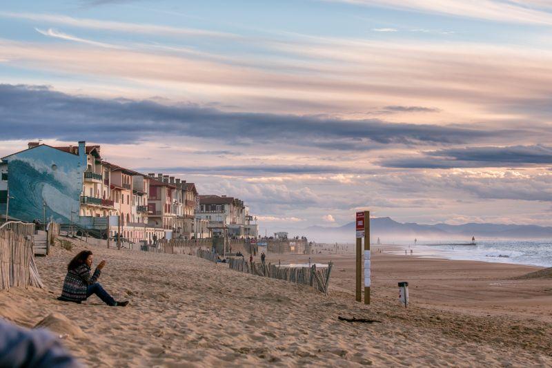 grubaska na plaży