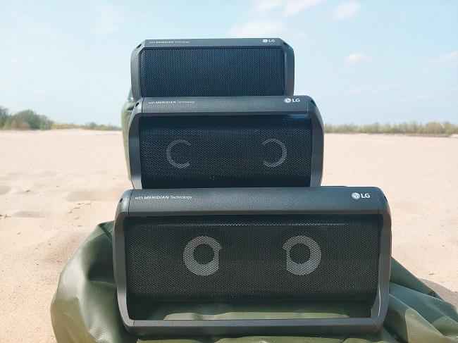Głośniki bluetooth LG z serii PK - zdjęcie zrobione smartfonem LG V40