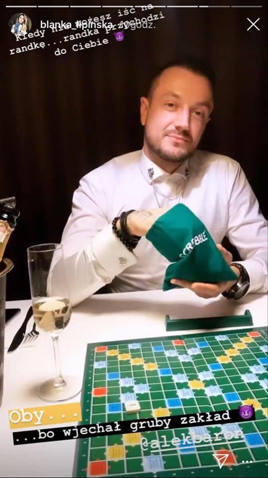 Baron gra w scrabble