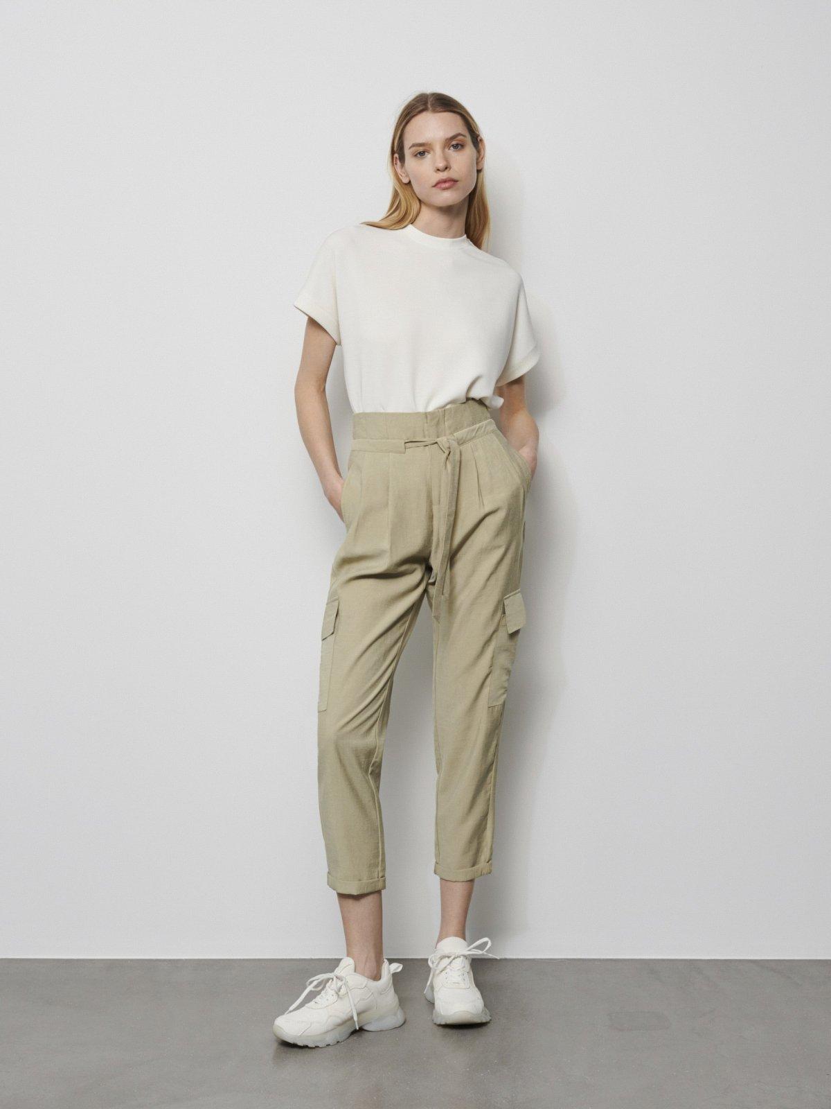 zielone spodnie cargo