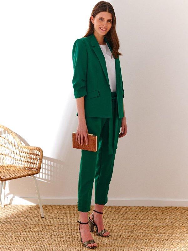 zielony garnitur