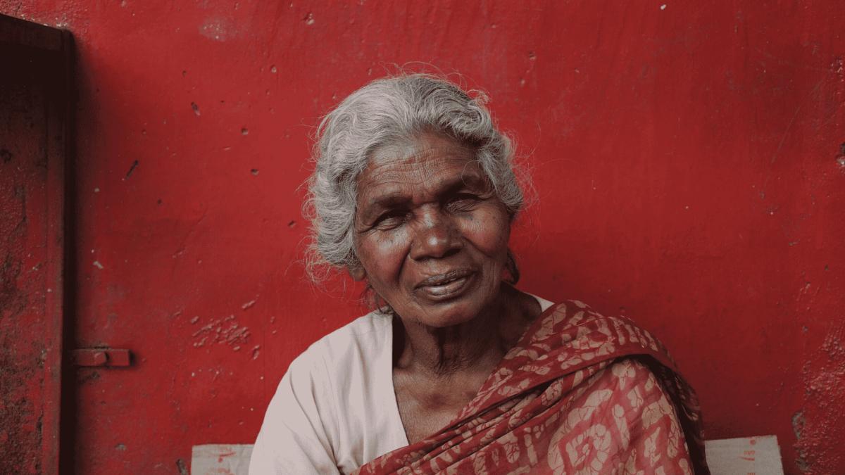 starsza pani w Indiach